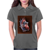 Blood Blow in Human Heart Womens Polo