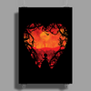 Blood Red Hearts Poster Print (Portrait)