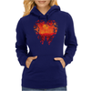 Blood Red Hearts Womens Hoodie