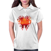Blood Red Hearts Womens Polo