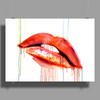 Blood Red Lips Poster Print (Landscape)