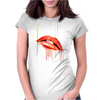 Blood Red Lips Womens Fitted T-Shirt