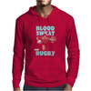 BLOOD SWEAT AND RUGBY Mens Hoodie