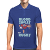BLOOD SWEAT AND RUGBY Mens Polo