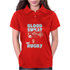 BLOOD SWEAT AND RUGBY Womens Polo