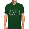 Blood Type AB Personality - White Mens Polo