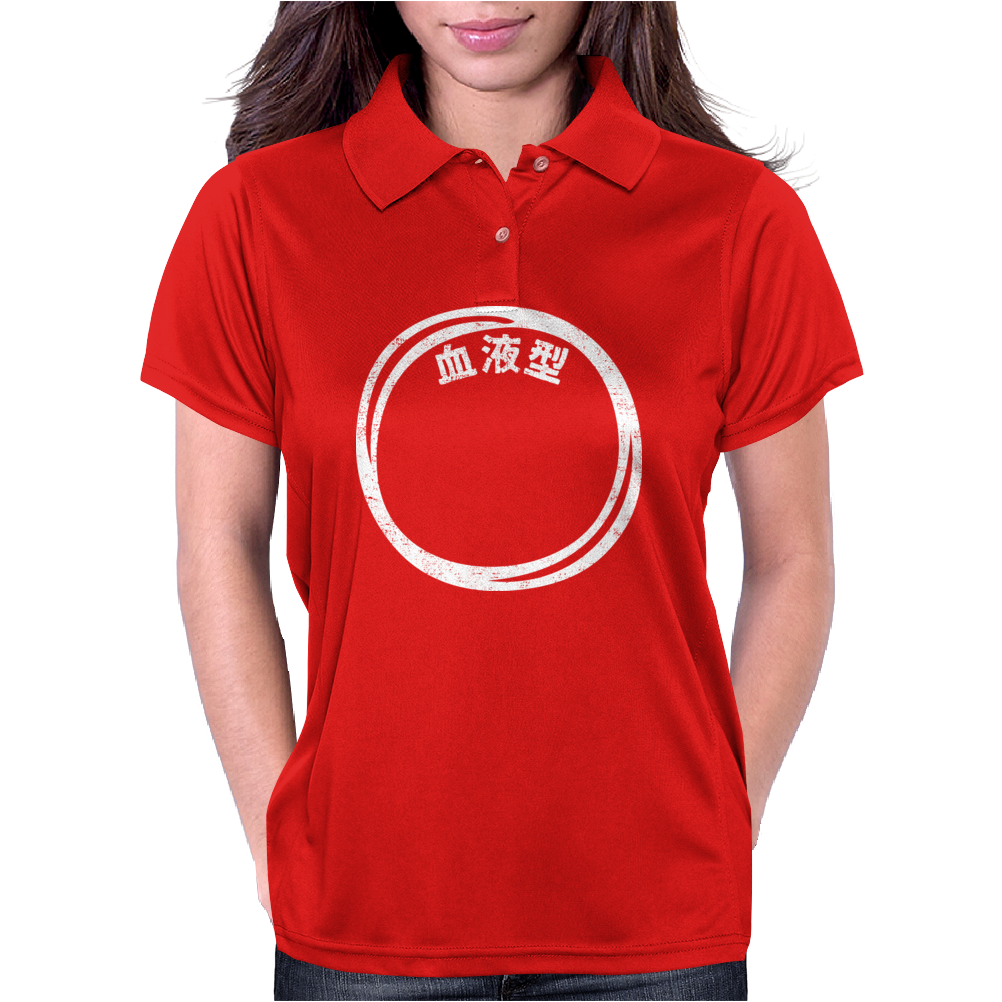 Blood Type O Personality - White Womens Polo
