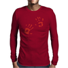 Bloody Hand Print Funny Zombie Kill Undead Blood Horror Killer Mens Long Sleeve T-Shirt