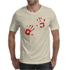 Bloody Hand Print Funny Zombie Kill Undead Blood Horror Killer Mens T-Shirt