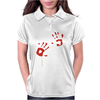 Bloody Hand Print Funny Zombie Kill Undead Blood Horror Killer Womens Polo