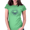 Blooming Skull Womens Fitted T-Shirt