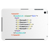 BLT html sandwich funny geek chic Tablet