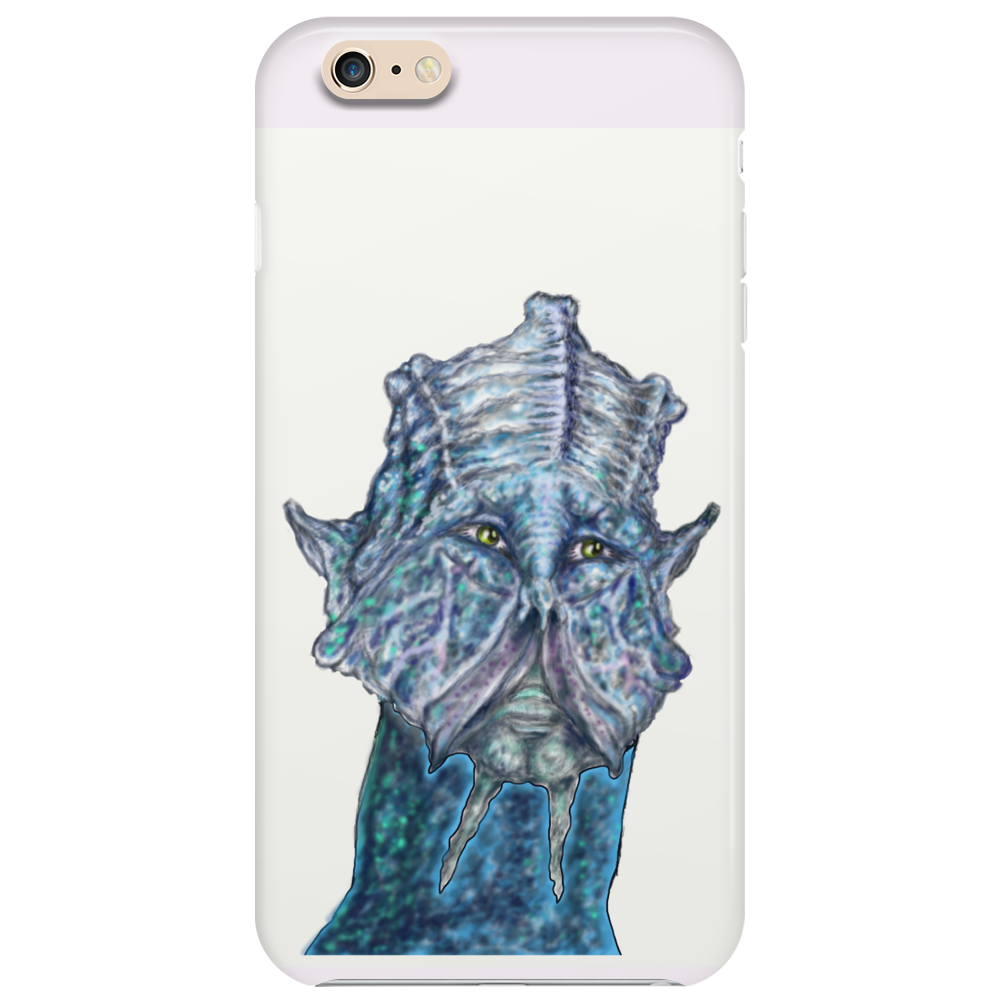 Blue Alien cell Phone Case