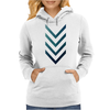Blue Arrow Womens Hoodie
