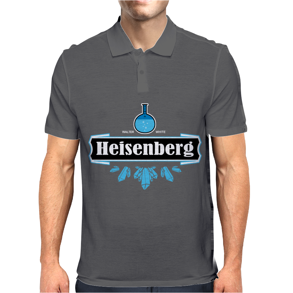 Blue Crystal Meth Heisenberg Brand Mens Polo
