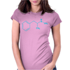 Blue Crystal Meth Molecule Funny breaking retro drugs bad DEA Womens Fitted T-Shirt