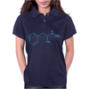 Blue Crystal Meth Molecule Funny breaking retro drugs bad DEA Womens Polo