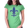 Blue Fleur De Lis Womens Fitted T-Shirt
