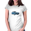 Blue Ford Capri Mk1 Classic Car Womens Fitted T-Shirt