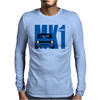 Blue Ford Escort MK1 Classic Car Mens Long Sleeve T-Shirt