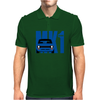 Blue Ford Escort MK1 Classic Car Mens Polo