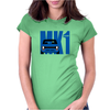 Blue Ford Escort MK1 Classic Car Womens Fitted T-Shirt