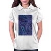 Blue Fractal Swirls Womens Polo