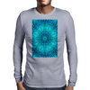 Blue Ice Snowflake Kaleidoscope Mens Long Sleeve T-Shirt