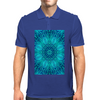Blue Ice Snowflake Kaleidoscope Mens Polo