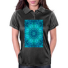 Blue Ice Snowflake Kaleidoscope Womens Polo