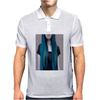 Blue Ombre Hair Illustration Mens Polo