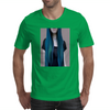 Blue Ombre Hair Illustration Mens T-Shirt