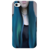 Blue Ombre Hair Illustration Phone Case