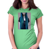 Blue Ombre Hair Illustration Womens Fitted T-Shirt