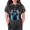 Blue Ombre Hair Illustration Womens Polo