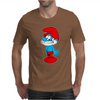 Blue Papa Smurf Cartoon Mens T-Shirt