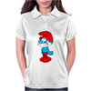 Blue Papa Smurf Cartoon Womens Polo
