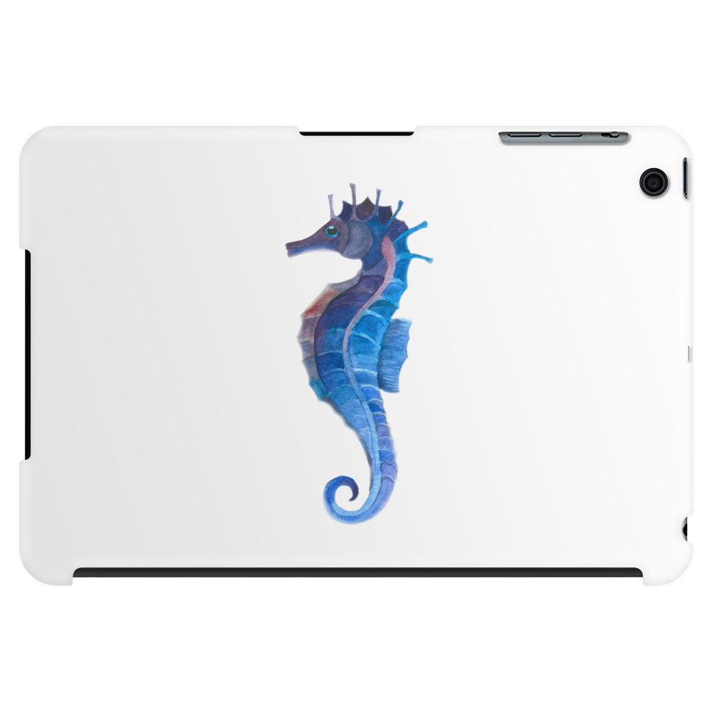 Blue seahorse (Hippocampus) Tablet (horizontal)