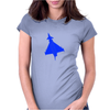 Blue Typhoon Jet Womens Fitted T-Shirt