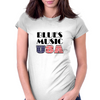 Blues Music USA Womens Fitted T-Shirt