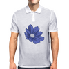 Bluish Flower Mens Polo