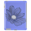 Bluish Flower Tablet (vertical)