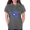 Bluish Flower Womens Polo