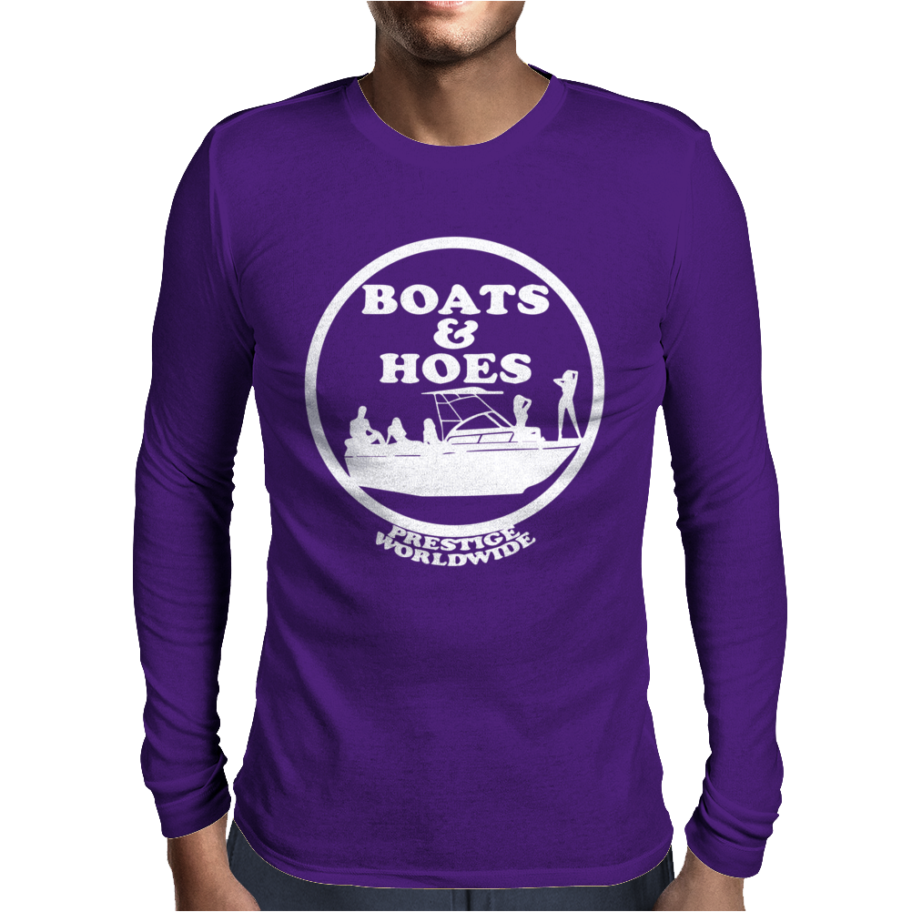 Boats and Hoes Mens Long Sleeve T-Shirt