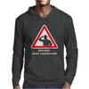 Body Under Construction Road Sign Mens Hoodie