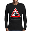 Body Under Construction Road Sign Mens Long Sleeve T-Shirt