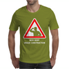 Body Under Construction Road Sign Mens T-Shirt