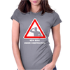 Body Under Construction Road Sign Womens Fitted T-Shirt