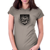 bodybuilder shield Womens Fitted T-Shirt