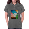 Bold White Flowers Womens Polo